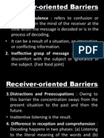 Receiver Oriented Barriers