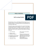 Well Test - Self learning Module - Pet Eng