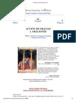 Oraciones de acción de gracias (1)