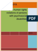 USPKENYA - Reviewed Human Rights Violation Users Mental Health Kenya Report 2013