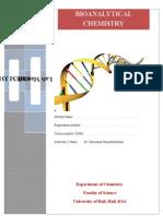 Bioanalytical Chemistry (CHEM311)- Lab Manual