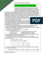 bài tập về phương trình lượng giác LTĐH
