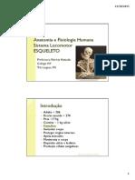 Anatomia e Fisiologia Humana - Esqueleto