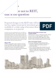 To Reit or Not to Reit
