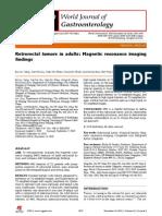 Retrorectal Tumors in Adults Magnetic Resonance Imaging