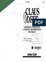 23 - Claus Offe - Partidos Politicos y Nuevos Movimientos