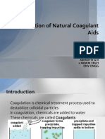 Application of Natural Coagulant Aids