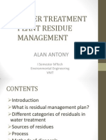 Water Treatment Plant Residue Management Modification