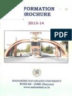 MDU Information Brochure 2013-14