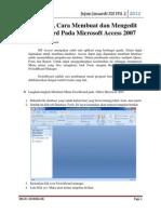 Tugas Tik Cara Membuat Switchboard Pada Access2007