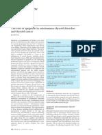 Apoptosis in Autoimmune Thyroid Disorder & Thyroid Cancer