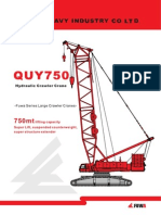 ERKE Group, FUWA QUY 750 Crawler Crane Catalogue