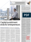 Capital Punishment Ends for Entrepreneurs