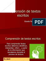 Comprension de Textos Escritos