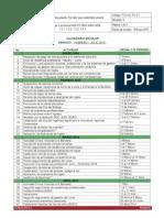 Calendario Escolar Enero-julio 2014 ITVG