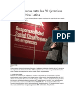 Cuatro Peruanas - Ejecutivas Importantes