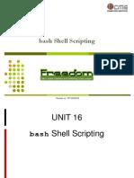 16 Bash Shell Scripting