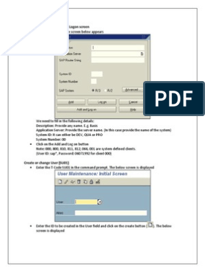 SAP Basis - Copy | Hypertext Transfer Protocol | Login