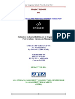 PARKER PEN Consumer Usage and Attitude Towards Parker Pen 82p - Aima Format