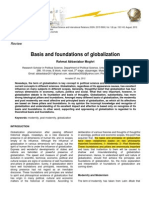 Basis and Foundations of Globalization