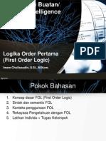 10 Logika Order Pertama First Order Logic AI EFIK V2.06