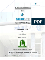 Internship Report on Askari Bank Limited