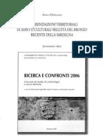 A. Depalmas, Differenziazioni Territoriali Di Aspetti Culturali Nell'Eta` Del Bronzo Recente Della Sardegna