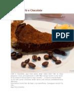 Tarte de Café e Chocolate