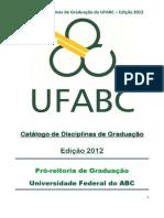 Catalogo de Disciplinas 2012