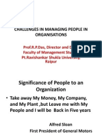 Challenges in Managing People in Organisations
