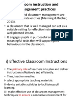 Classroom Instruction and Management Practices