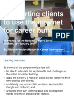 Supporting Clients to Use the Internet for Career Building (Oldham version)