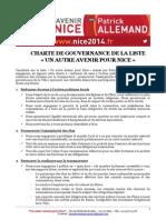 LE PACTE DE GOUVERNANCE D'UN AUTRE AVENIR POUR NICE
