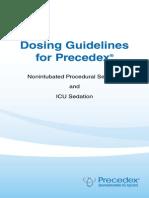 Precedex Dosing Guidelines