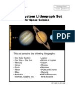 NASA Solar System Lithograph Set