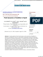 Brazilian Journal of Chemical Engineering - Fluid Dynamics of Bubbles in Liquid