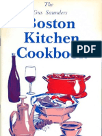 The Gus Saunders Boston Kitchen Cookbook Vol.X