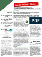 January 2014 Newsletter