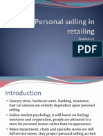 Session 17 Role of Personal Selling in Retailing