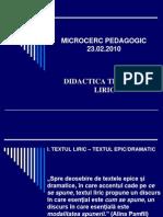 Didactica textului liric