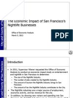 The Economic Impact of San Francisco's Nightlife Businesses