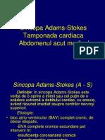 Sincopa Adams-Stokes Tamponada Cardiaca