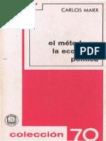 el método en la economía política 3