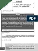SIMULAÇÃO DE UMA USINA COM CICLO SIMPLES A VAPOR