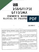 Dt175mx Owners Handbook
