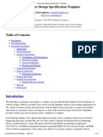 A Software Design Specification Template