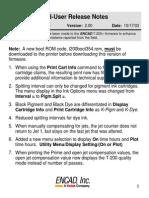 End-User Release Notes | encad T-200/T-200+