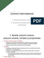 Bazele Actiunii Umane Si Teorema Fundamentala a Schimbului