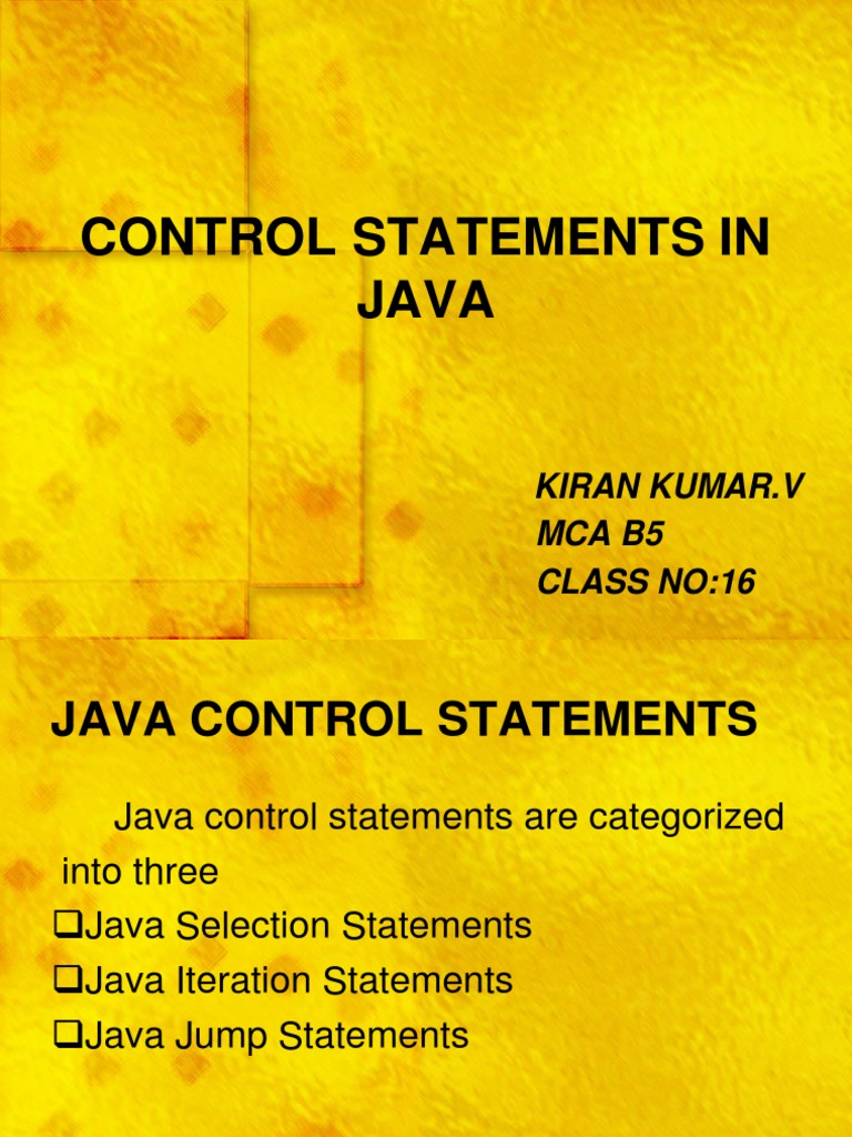 iteration statements in java