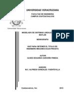 Modelado de Sistemas Lineales Utilizando Matlab